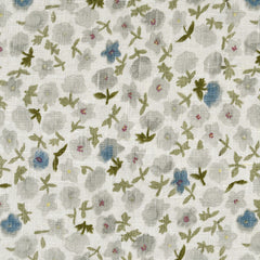 Watercolor Floral Linen Blend Suiting Cream/Olive - Fabric - Style Maker Fabrics