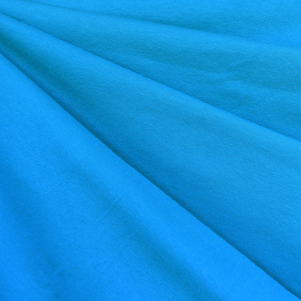 Designer Cotton Jersey Knit Solid Turquoise SY - Sold Out - Style Maker Fabrics