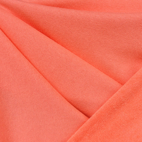 Soft Cotton Terry Velour Solid Coral