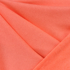 Soft Cotton Terry Velour Solid Coral - Fabric - Style Maker Fabrics