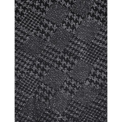 Novelty Houndstooth Boucle Sweater Knit Black/Silver - Fabric - Style Maker Fabrics