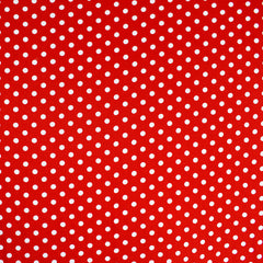 Classic Polka Dot Rayon Poplin Red/White - Sold Out - Style Maker Fabrics