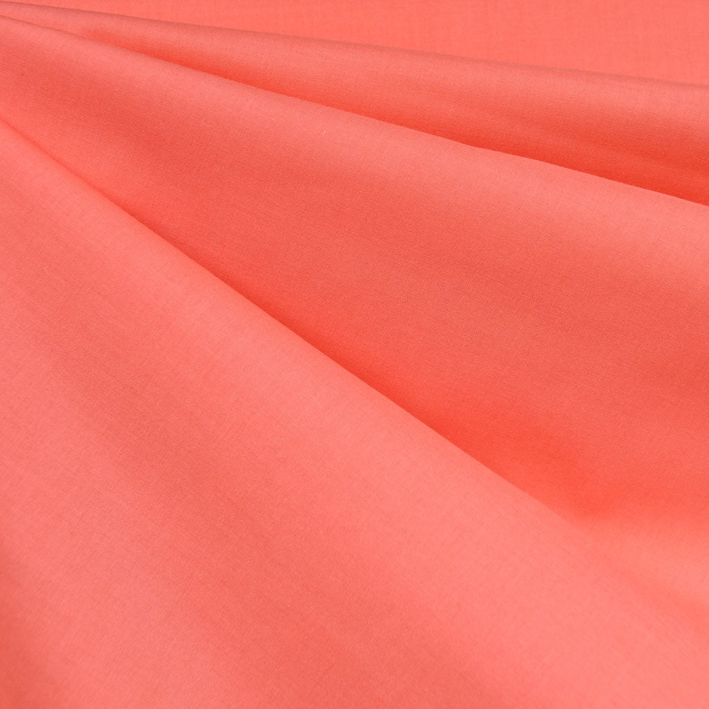 Cotton Voile Solid Coral SY - Selvage Yard - Style Maker Fabrics
