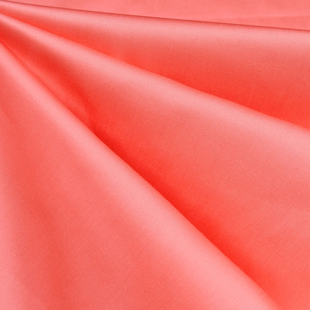 Classic Stretch Sateen Solid Coral - Fabric - Style Maker Fabrics