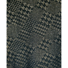 Novelty Houndstooth Boucle Sweater Knit Black/Gold - Fabric - Style Maker Fabrics