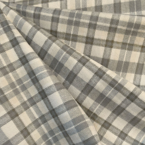 Cozy Cotton Flannel Tonal Plaid Vanilla/Taupe