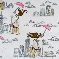 Fashionista London Showers Cotton White/Silver SY - Sold Out - Style Maker Fabrics