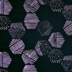 Handcrafted Cotton Hexagon Tiles Black - Fabric - Style Maker Fabrics