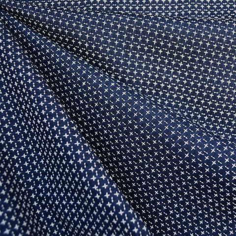 Boro Wovens Cross Stitch Shirting Indigo