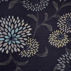Japanese Dobby Texture Cotton Burst Floral Navy - Fabric - Style Maker Fabrics