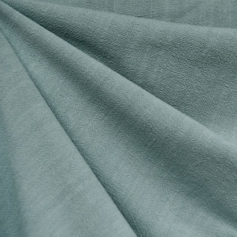 Slub Texture Linen Blend Solid Sea Glass