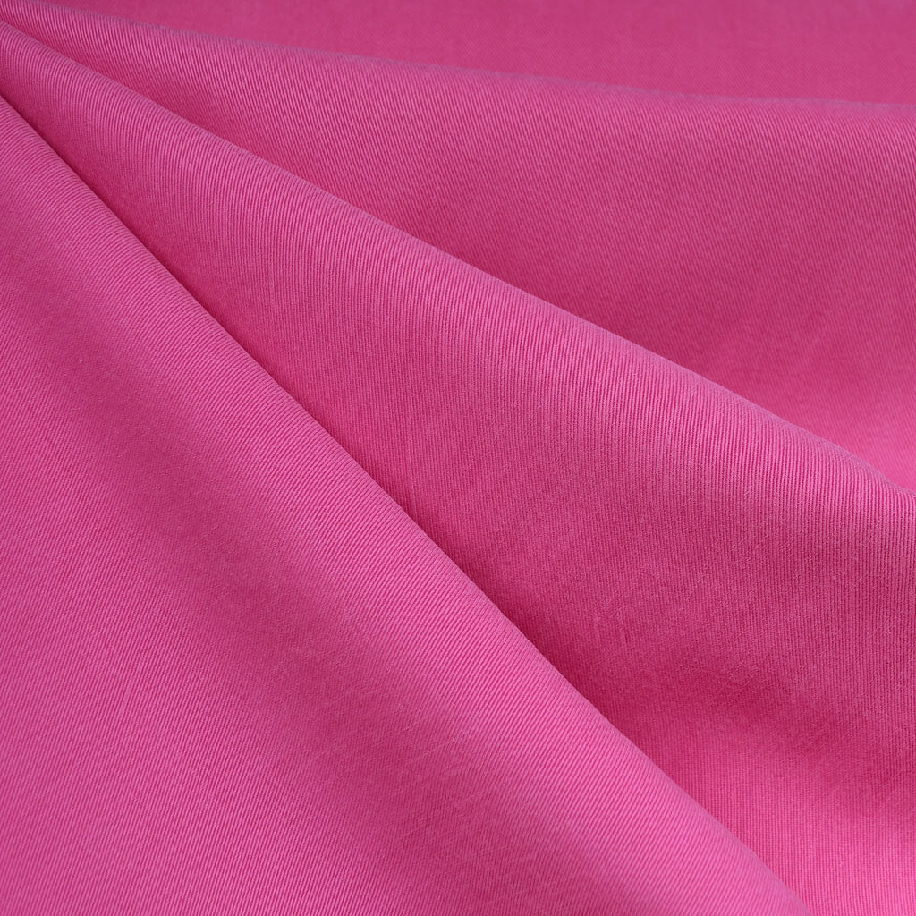 Soft Tencel Twill Solid Hot Pink SY - Sold Out - Style Maker Fabrics