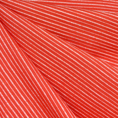 Mariner Cloth Stripe Shirting Flame - Fabric - Style Maker Fabrics