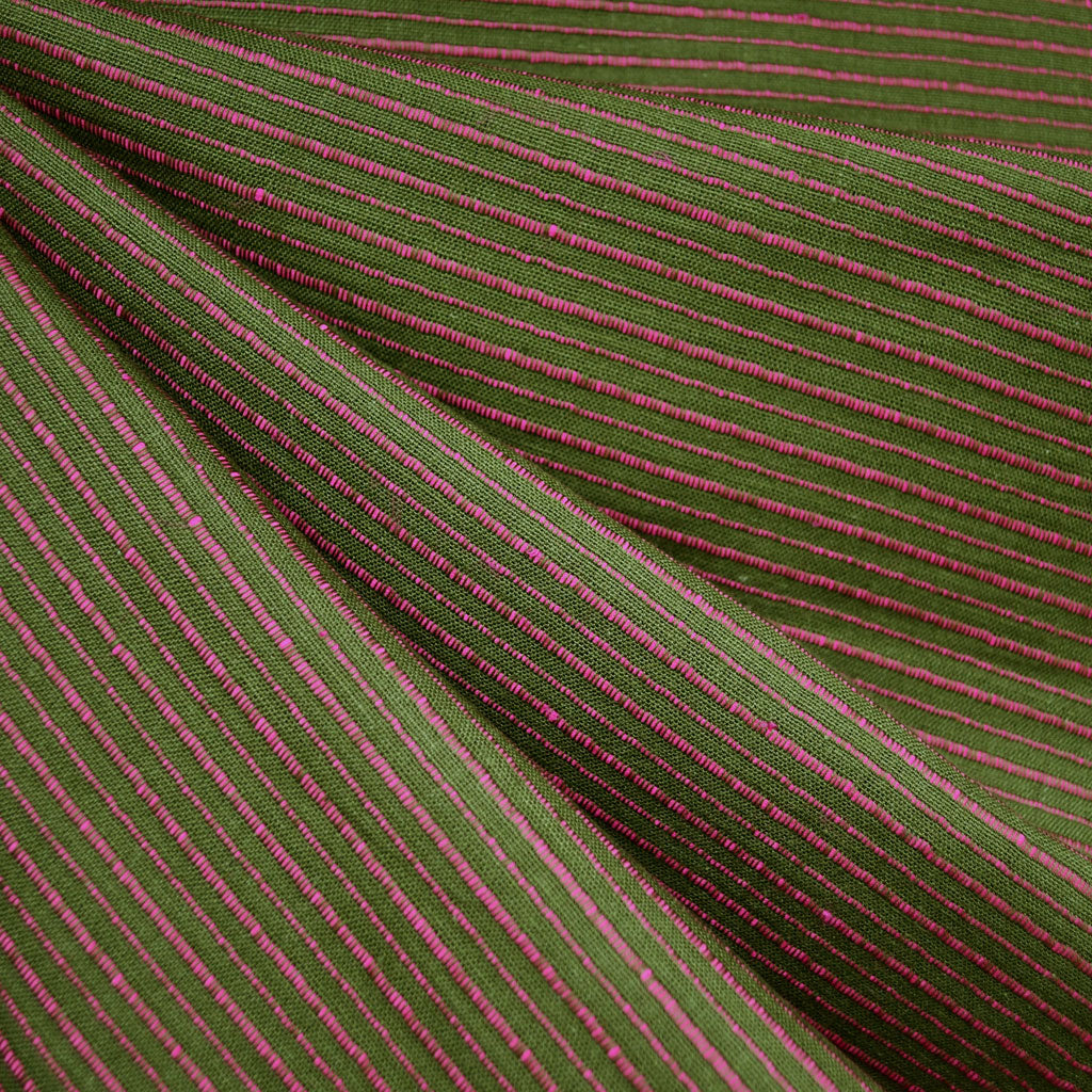 Mariner Cloth Stripe Shirting Olive - Fabric - Style Maker Fabrics