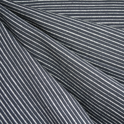 Mariner Cloth Stripe Shirting Charcoal