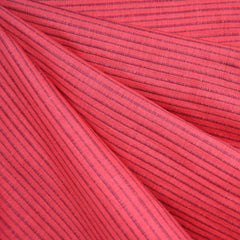 Mariner Cloth Stripe Shirting Salmon SY - Sold Out - Style Maker Fabrics