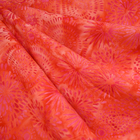 Tonal Layered Burst Rayon Batik Flame