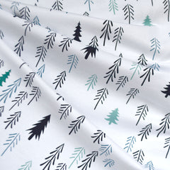 Winter Forest Jersey Knit Teal/Aqua - Fabric - Style Maker Fabrics