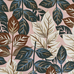 Tropical Leaf Shirting Blush/Vanilla - Fabric - Style Maker Fabrics
