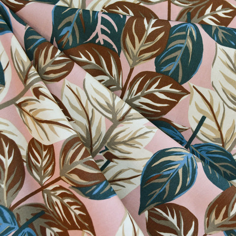 Tropical Leaf Shirting Blush/Vanilla