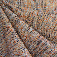 Designer Tweed Linen Blend Suiting Terracotta/Navy - Fabric - Style Maker Fabrics