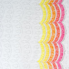 Summer Fun Scallop Novelty Lace White/Brights SY - Selvage Yard - Style Maker Fabrics