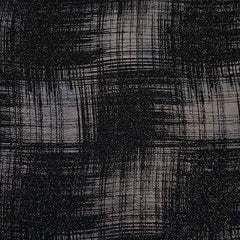 Distressed Metallic Plaid Double Knit Black/Copper - Fabric - Style Maker Fabrics