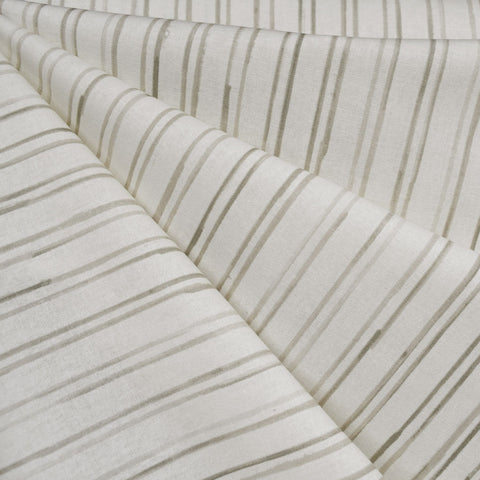 Japanese Nani Iro Reviere Stripe Cotton Cream/Taupe