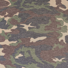 Distressed Camouflage Cotton Jersey Olive/Tan - Fabric - Style Maker Fabrics