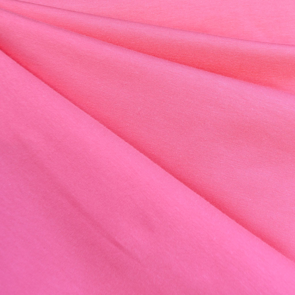 Designer Cotton Jersey Knit Pink SY - Sold Out - Style Maker Fabrics