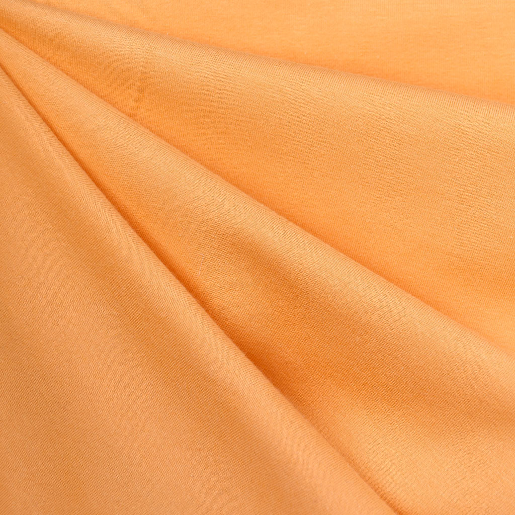 Designer Cotton Jersey Knit Orange Sherbet SY - Sold Out - Style Maker Fabrics