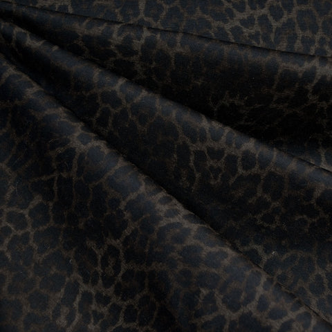 Hidden Spots Animal Print Ponte Knit Black