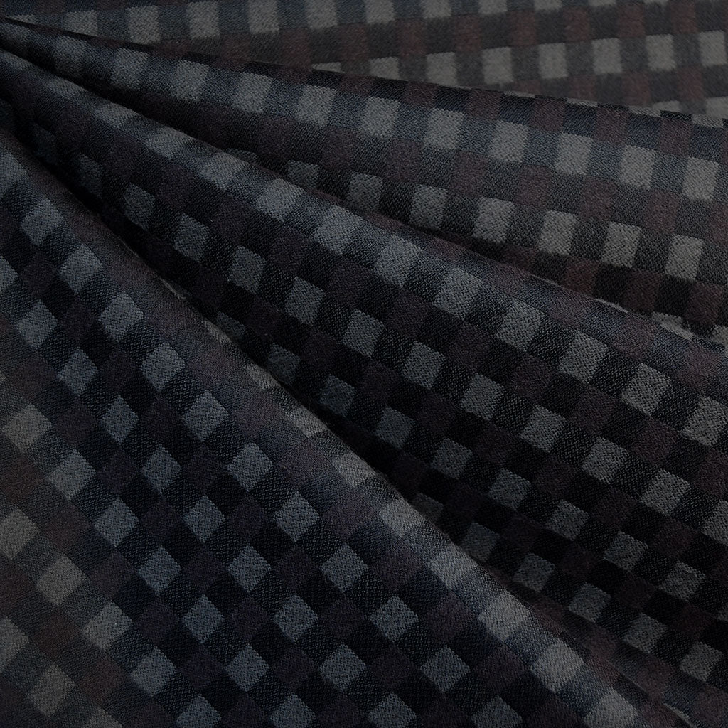 Mammoth Flannel Tonal Check Plaid Black/Brown - Fabric - Style Maker Fabrics