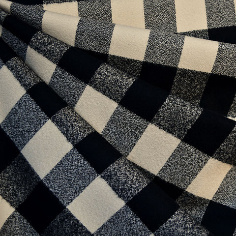 Mammoth Flannel Buffalo Check Black/Cream