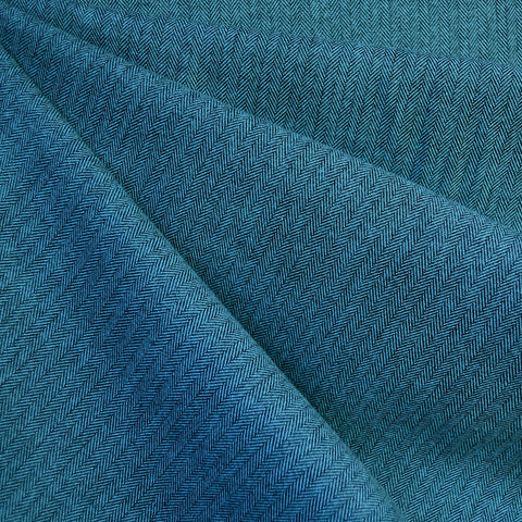 Shetland Flannel Mini Herringbone Teal
