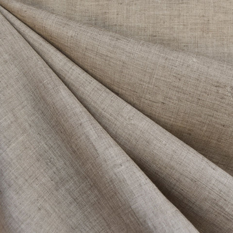 Designer Linen Shirting Solid Taupe