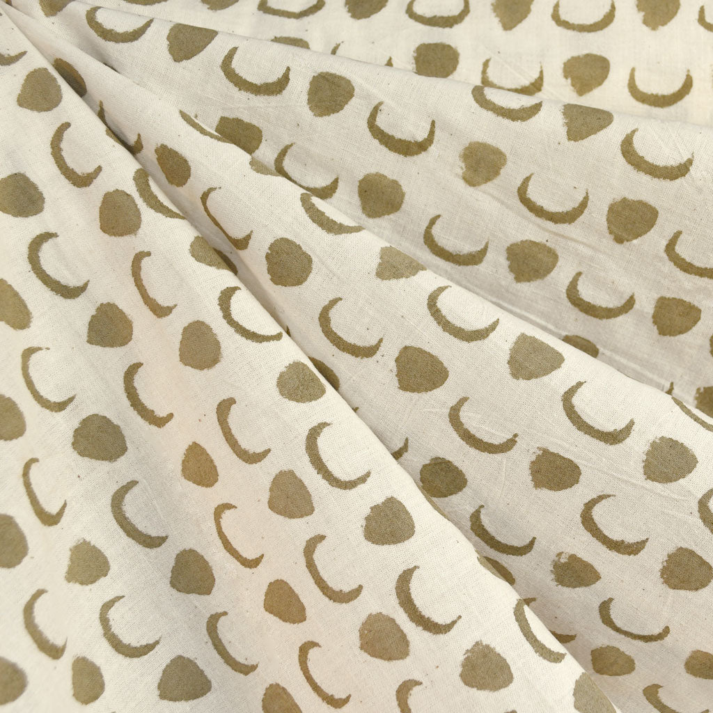 Handcrafted Cotton Batik Shirting Cream/Taupe - Fabric - Style Maker Fabrics