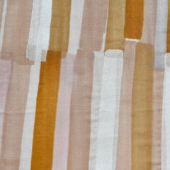 Japanese Nani Iro Grace Watercolor Stripe Double Gauze Peach/Pearl SY - Sold Out - Style Maker Fabrics