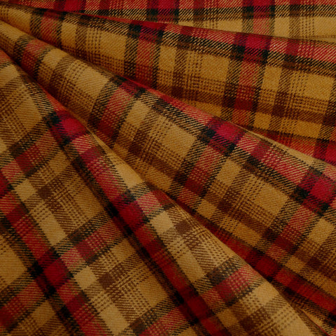 Cozy Cotton Flannel Autumn Plaid Turmeric/Rust