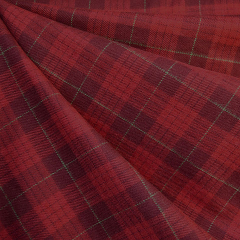 Cozy Cotton Flannel Tonal Square Plaid Red