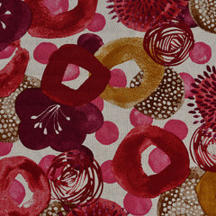 Japanese Watercolor Floral Canvas Fuchsia/Burgundy - Fabric - Style Maker Fabrics