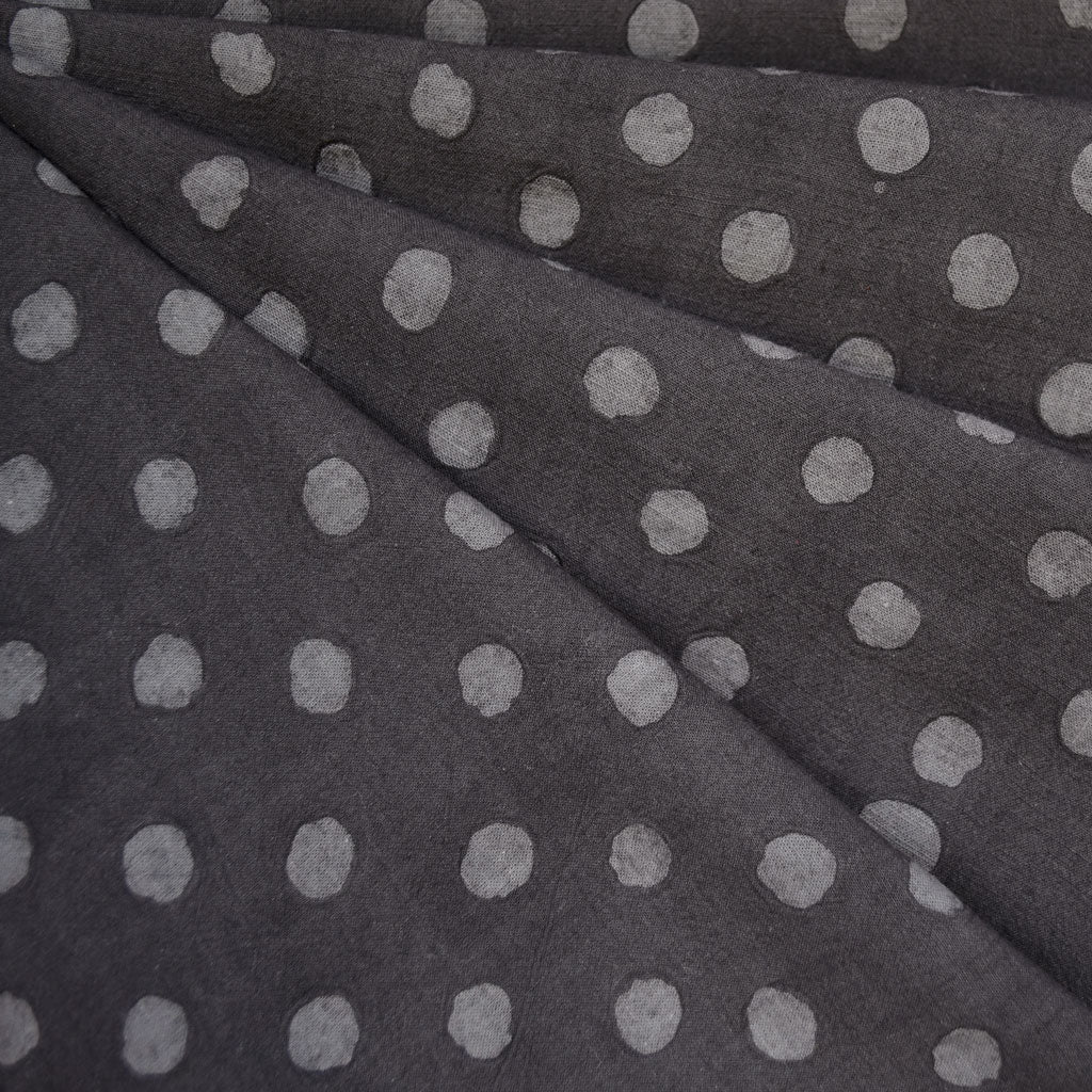 Handcrafted Textured Dot Batik Shirting Charcoal SY - Sold Out - Style Maker Fabrics