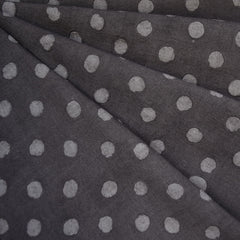 Handcrafted Textured Dot Batik Shirting Charcoal - Fabric - Style Maker Fabrics