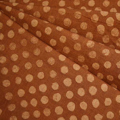 Handcrafted Textured Dot Batik Shirting Rust