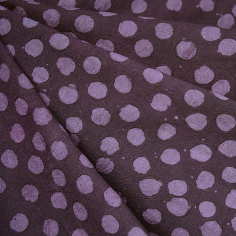 Handcrafted Textured Dot Batik Shirting Plum