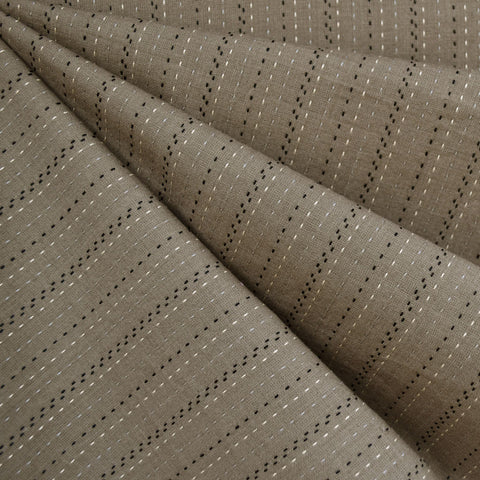 Woven Shirting Stitch Stripe Taupe