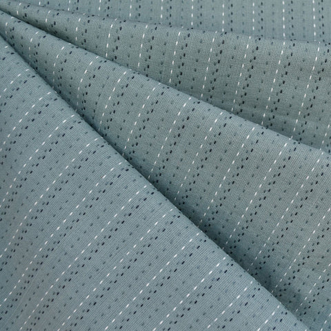 Woven Shirting Stitch Stripe Sea Glass