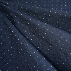 Woven Shirting Dot Stripe Dark Navy SY - Sold Out - Style Maker Fabrics