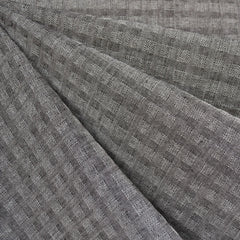 Woven Shirting Plaid Texture Natural/Black - Fabric - Style Maker Fabrics