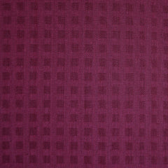 Woven Shirting Plaid Texture Berry - Fabric - Style Maker Fabrics
